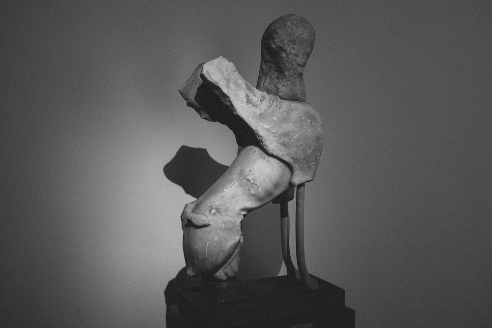 Photo 37. A dilapidated Greek Sphynx statue.  National Archaeological Museum, Athens, 2014.