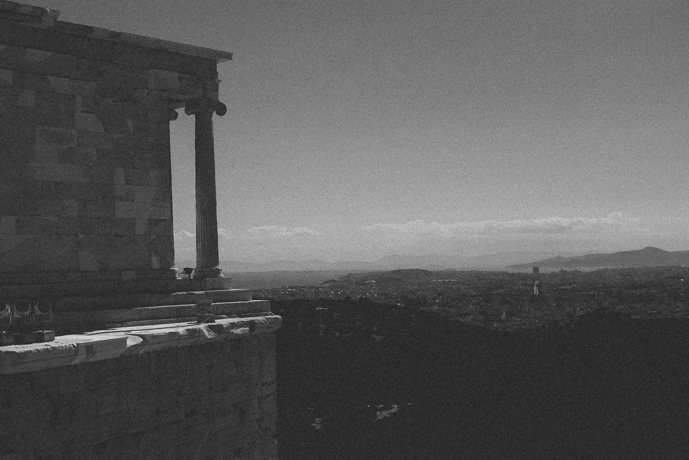 Photo 43.  The Temple of Athena Nike built 420 BC.  The  Athenians built this temple in the hopes of a victorious outcome in their war against Sparta during the Peloponnesian Wars.  Athens, Greece, 2014.