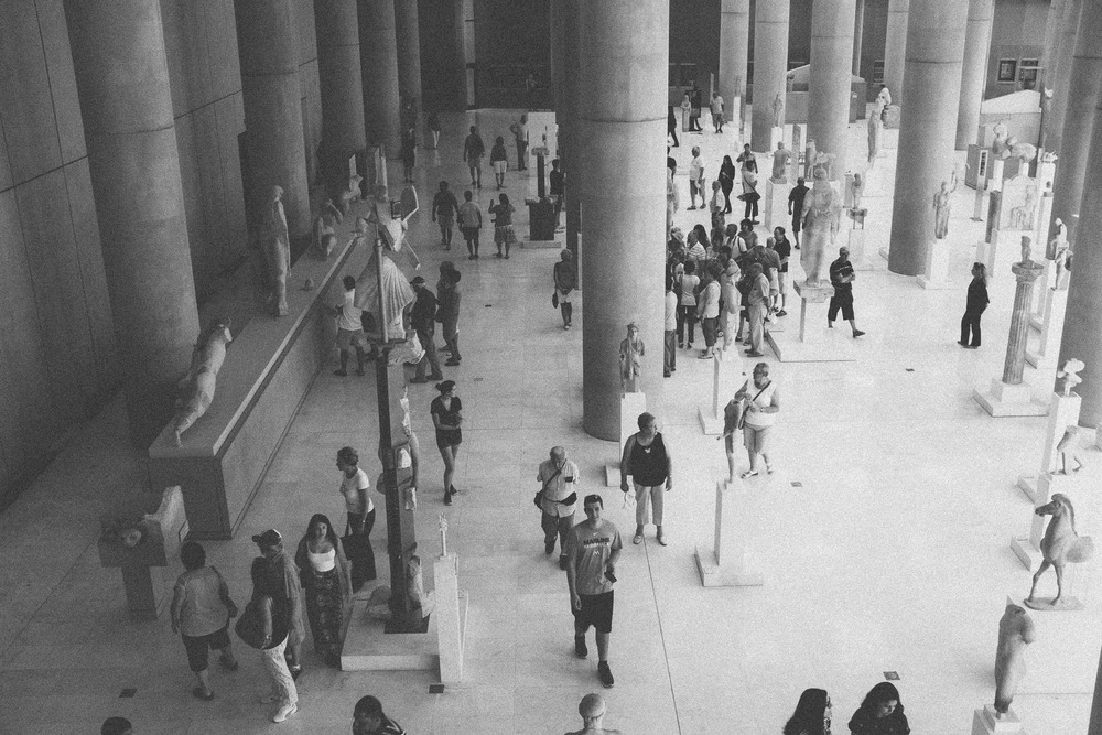 Multitudes at Acropolis Museum