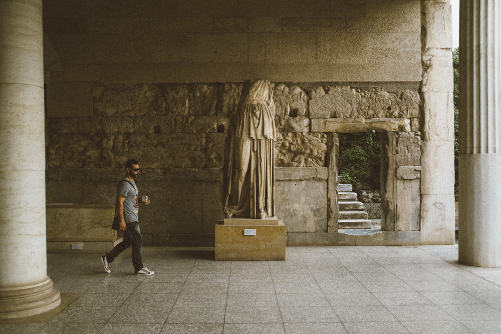 Young Man at Stoa of Attalos