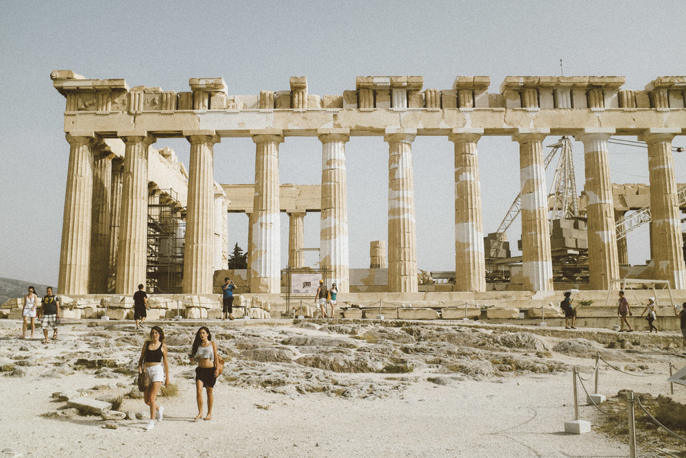 Youth under the Parthenon