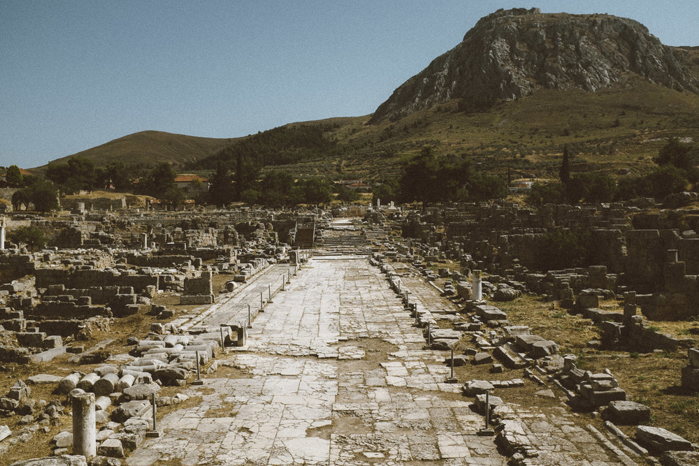 Ancient Corinth Ruins