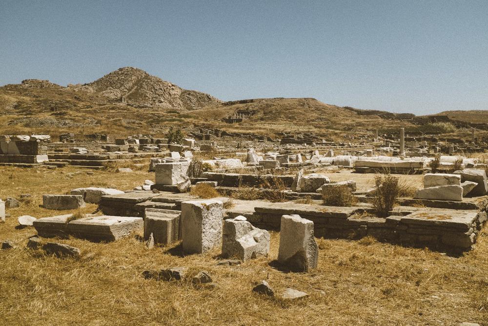 The Flatten Ruins of Delos