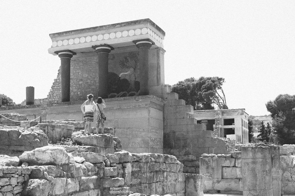 Mom and Boy at Knossos