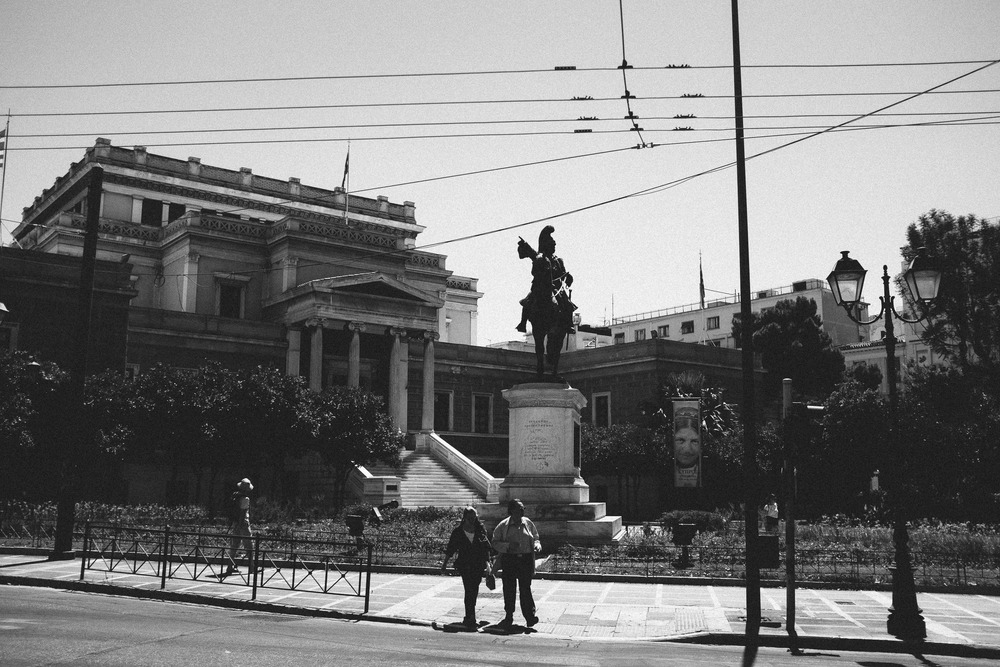 Statue and Wires