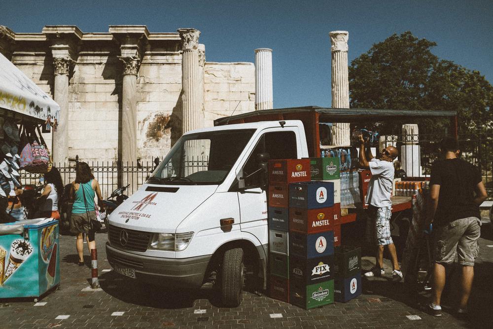 A Delivery in Monastiraki Square