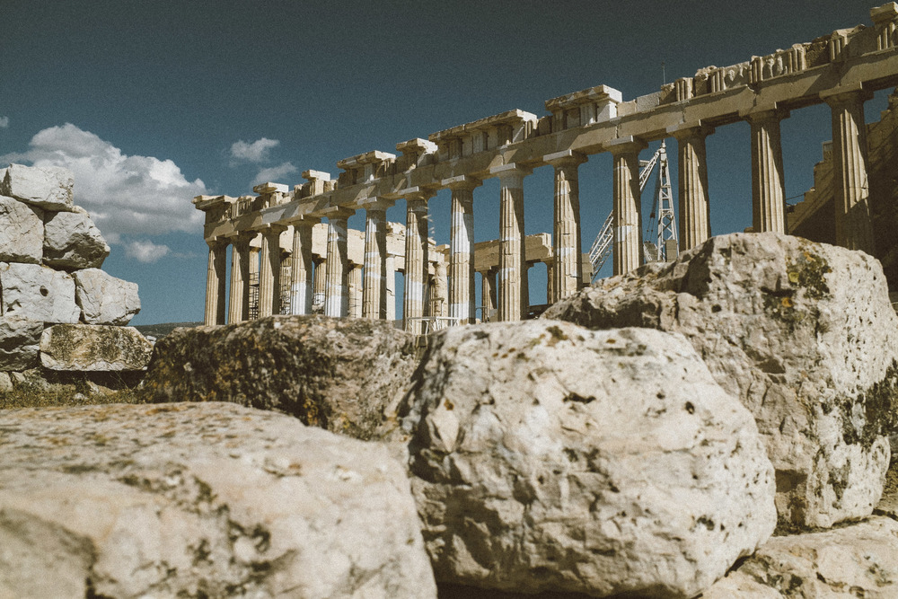 Parthenon hewed from stone