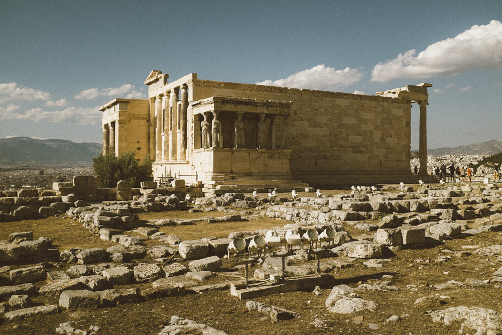 Erechtheion and ruins in fore