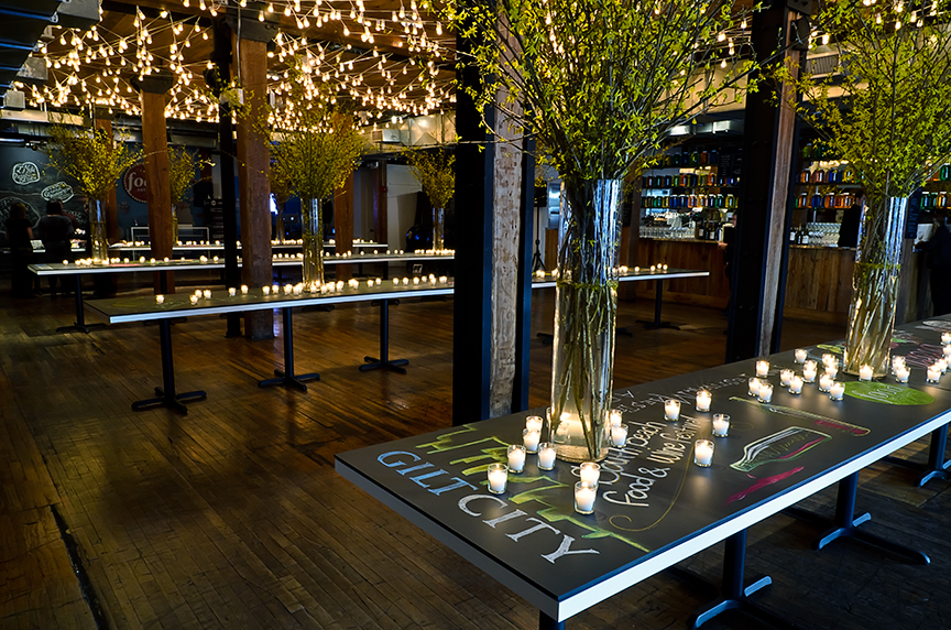 Table design for Gilt City and Food Network.