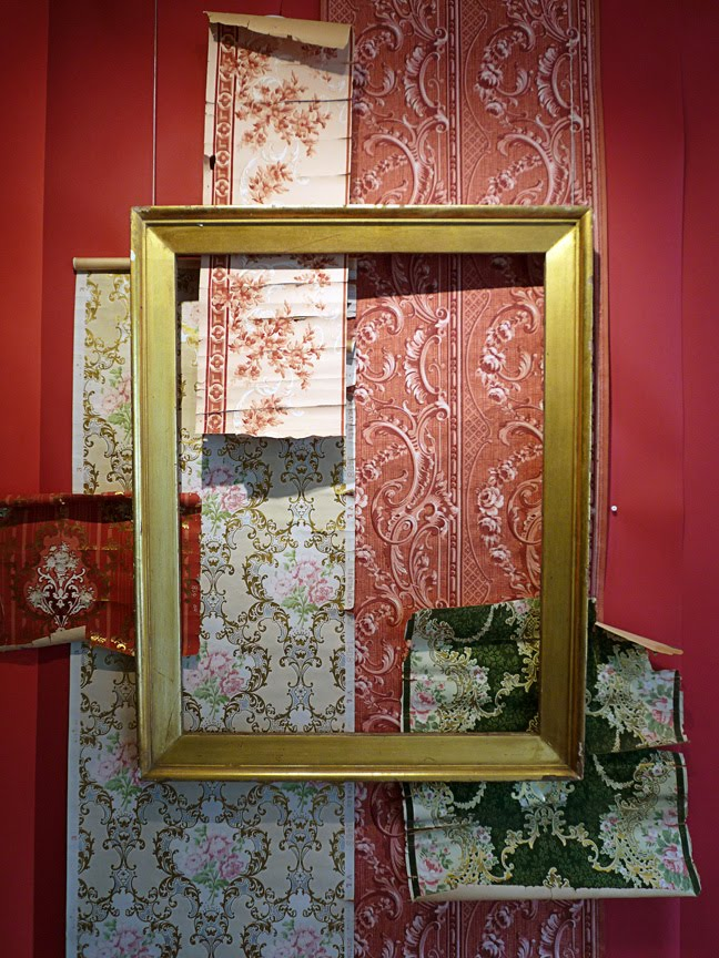 installation view of Geoff's  exhibition about the history of wallpaper at the Athens Cultural Center, Athens NY.