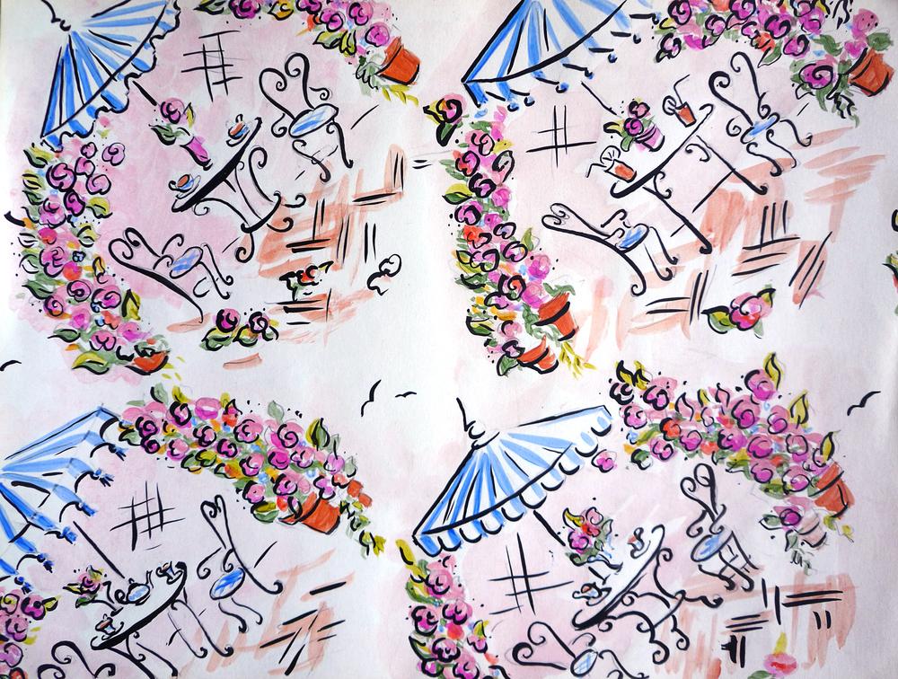 Estee Lauder: gift wrap design.