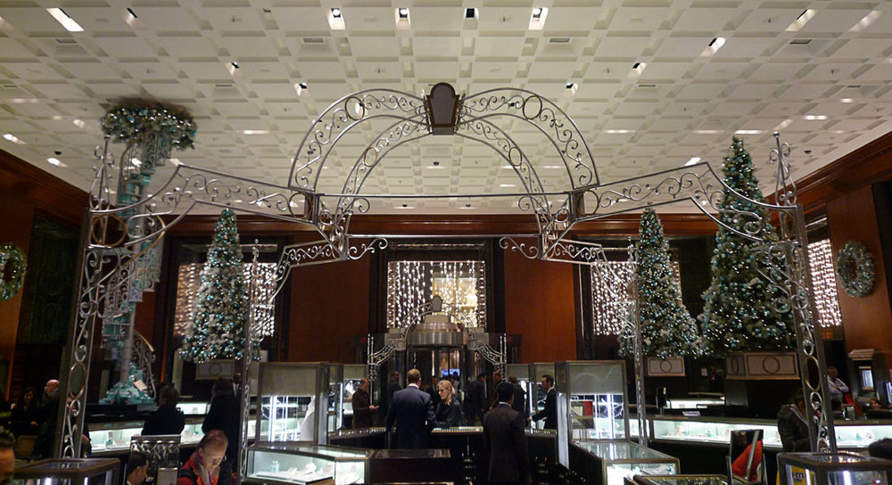 Christmas decor produced for Tiffany & Co.
