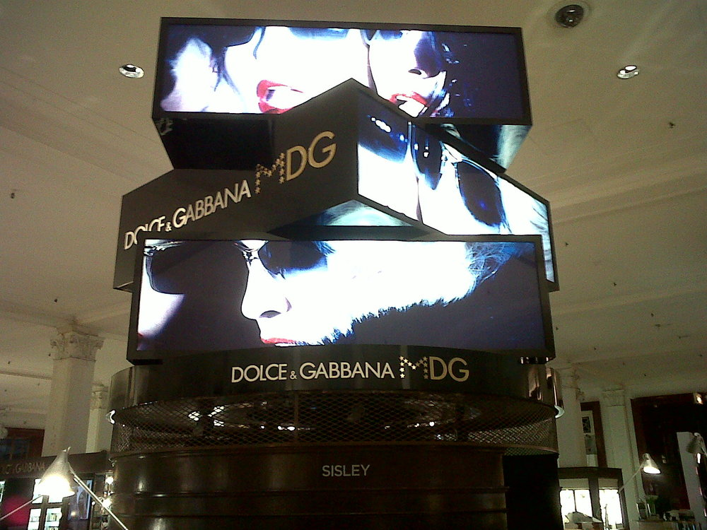 Rotating lightbox advert produced for Saks 5th Ave.