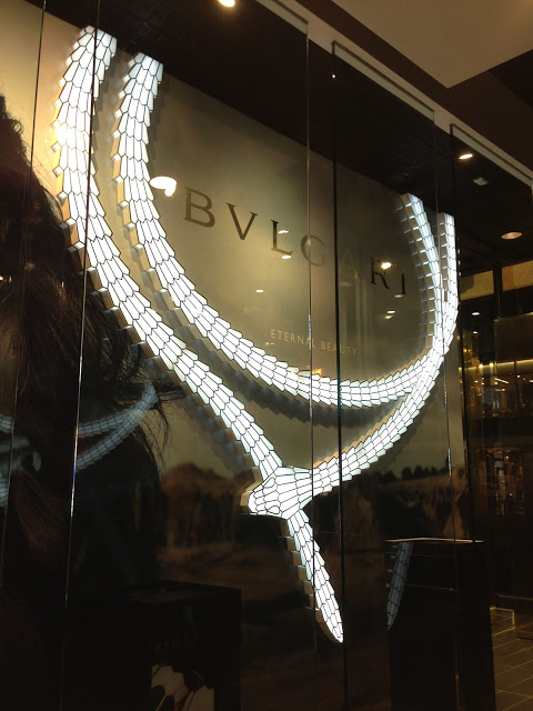 Bulgari lightbox snake produced for Sunglass Hut.