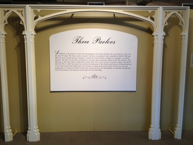 Exhibition decor designed and produced for Lyndhurst Historic Site.