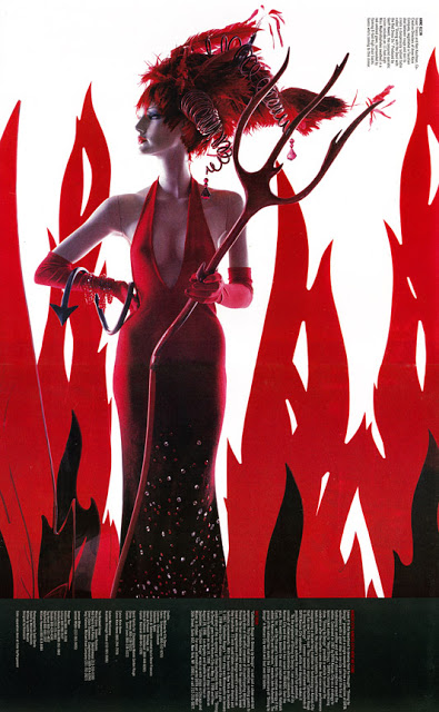 """Devil in a Red Dress"" concept co-designed with Anne Klein and produced for DIFFA; Dining By Design."