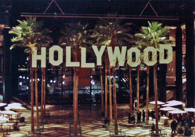 """Hollywood on the Hudson"" signage produced for the World Financial Center."