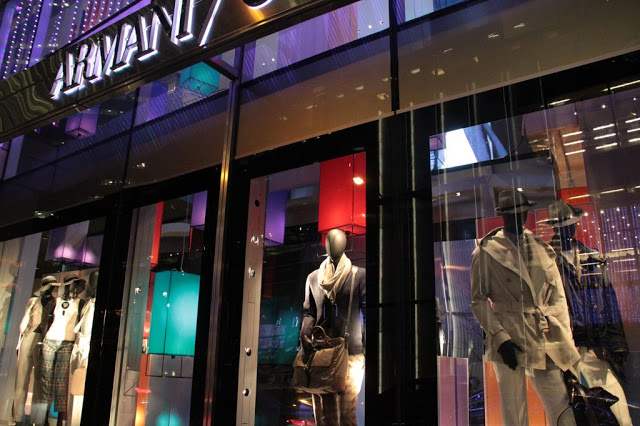 Multi-colored lanterns produced for Armani 5th Avenue.