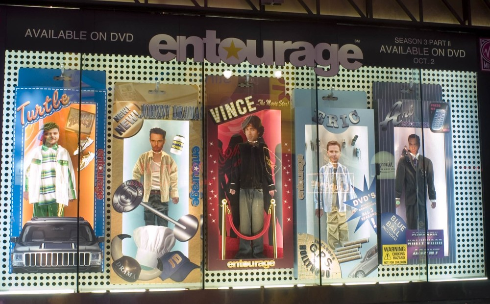 Window display produced and installed for HBO.