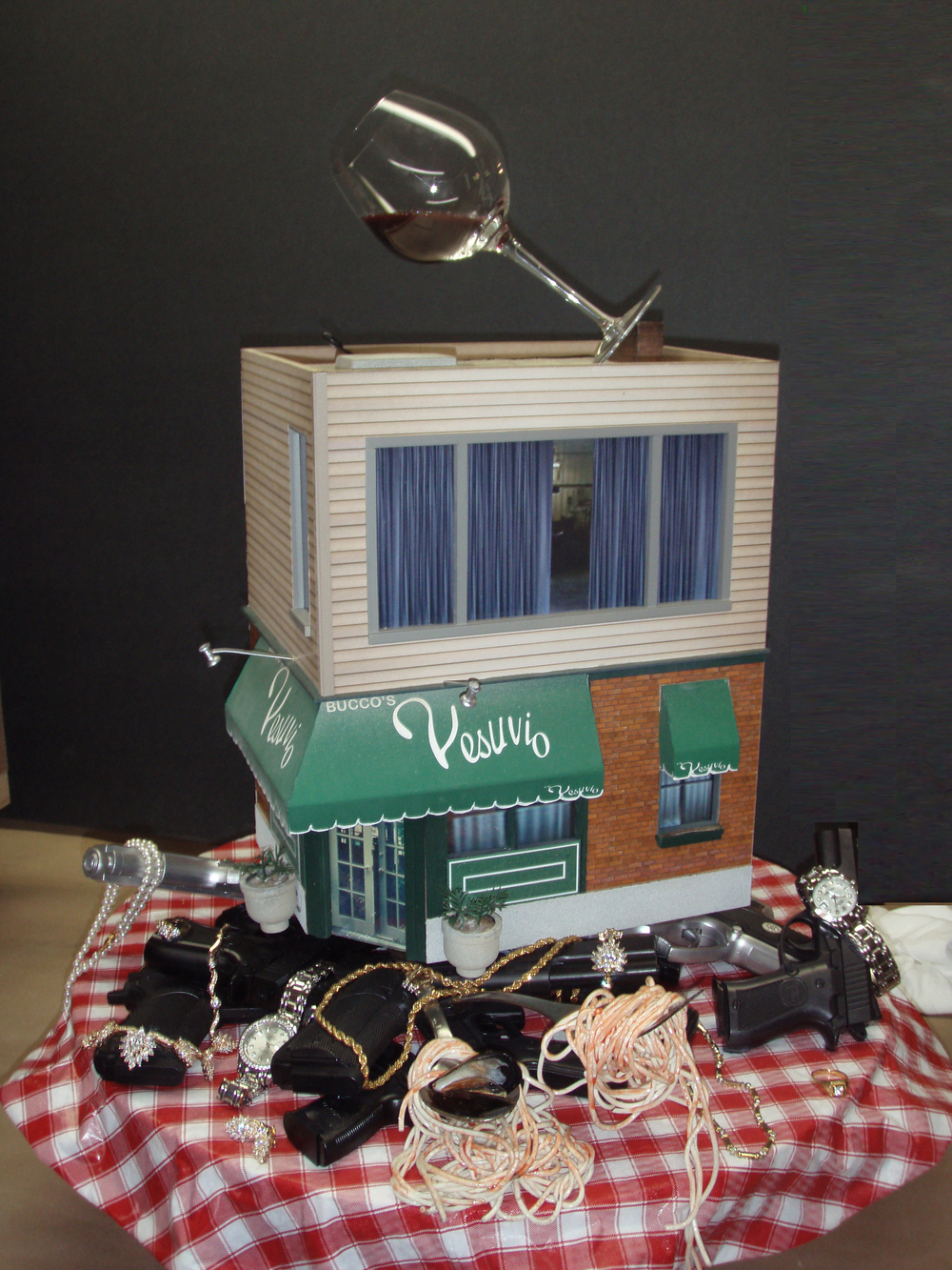 """The Sopranos"" inspired diorama designed and produced for HBO window display in Times Square."