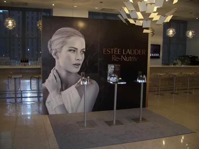 "Estee Lauder: ""Re-nutriv"" market week installation."