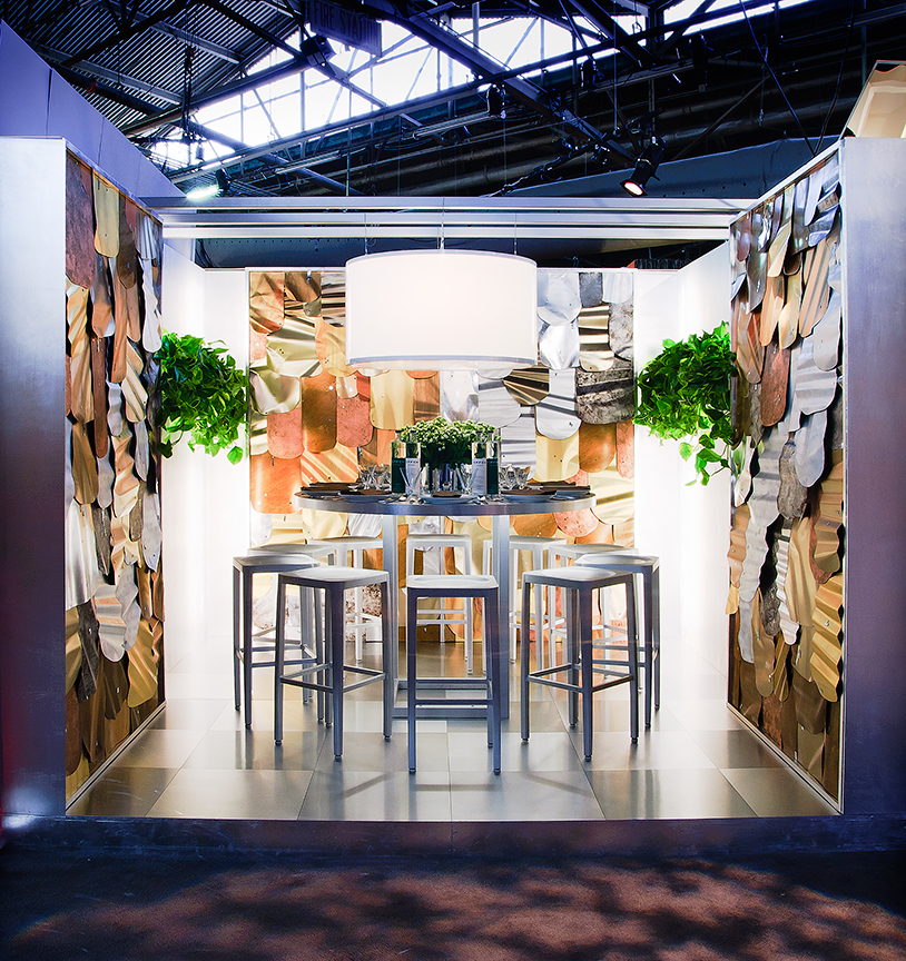 DIFFA: Dining By Design. Booth installation sponsored by Effen Vodka.