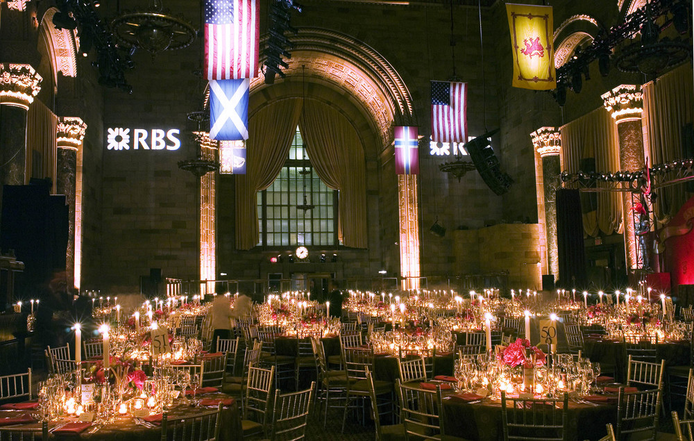 Event decor and installation for The Royal Bank of Scotland, NYC.