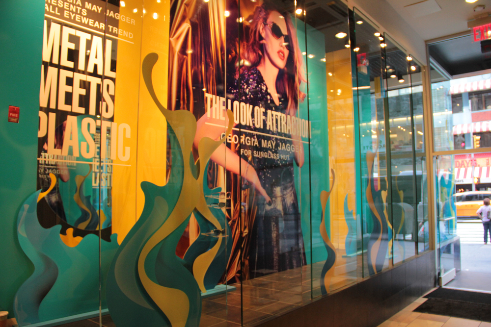 Window displays produced for Sunglass Hut