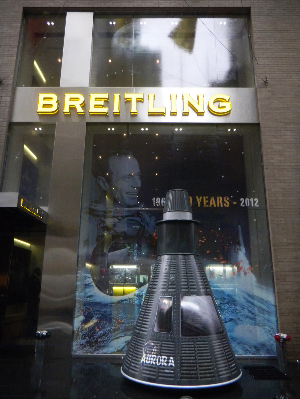 Lunar module produced and installed for Breitling.