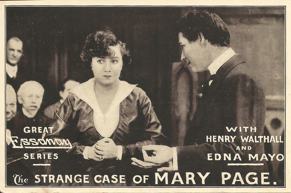 "Promotional postcard for ""The Strange Case of Mary Page"""