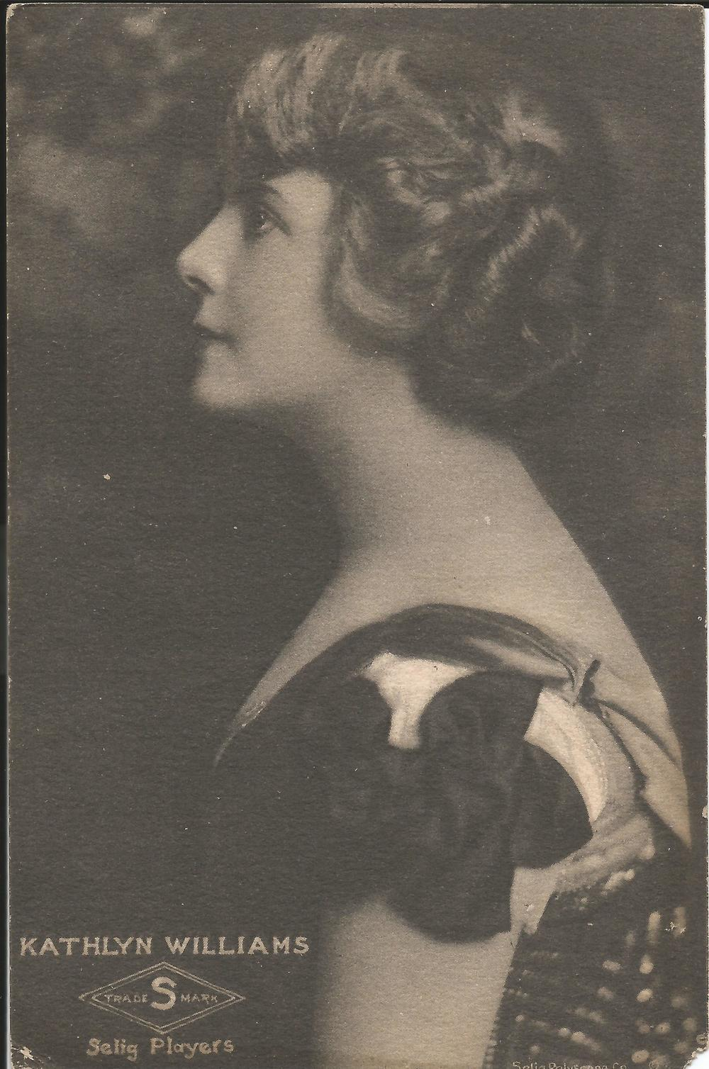 Promotional postcard of Kathlyn Williams
