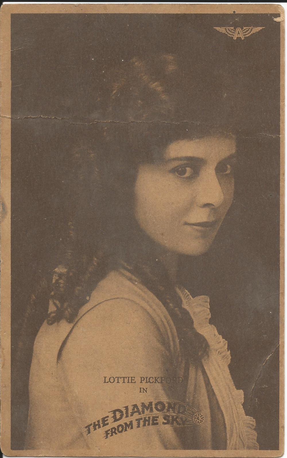 Promotional postcard of Lottie Pickford