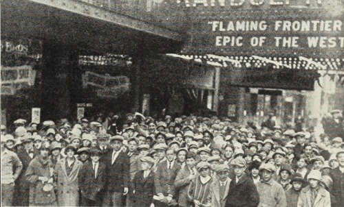 Flaming Frontier screening attendees. Roosevelt Theatre, Nov. 1926