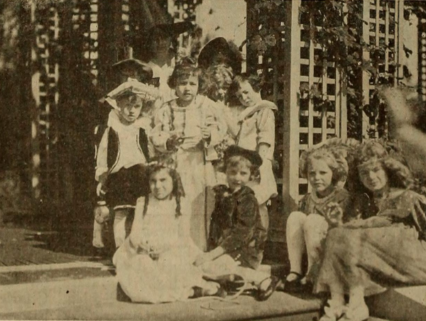 Children from the Fort Dearborn production of The Modern Mother Goose.