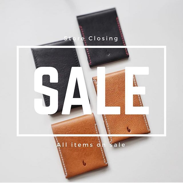 All wallets on sale now. Until supplies last. Check them out.