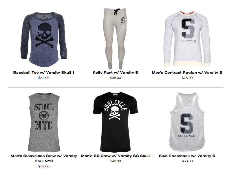 Soulcycle graphic assortment pitch, design and production '14