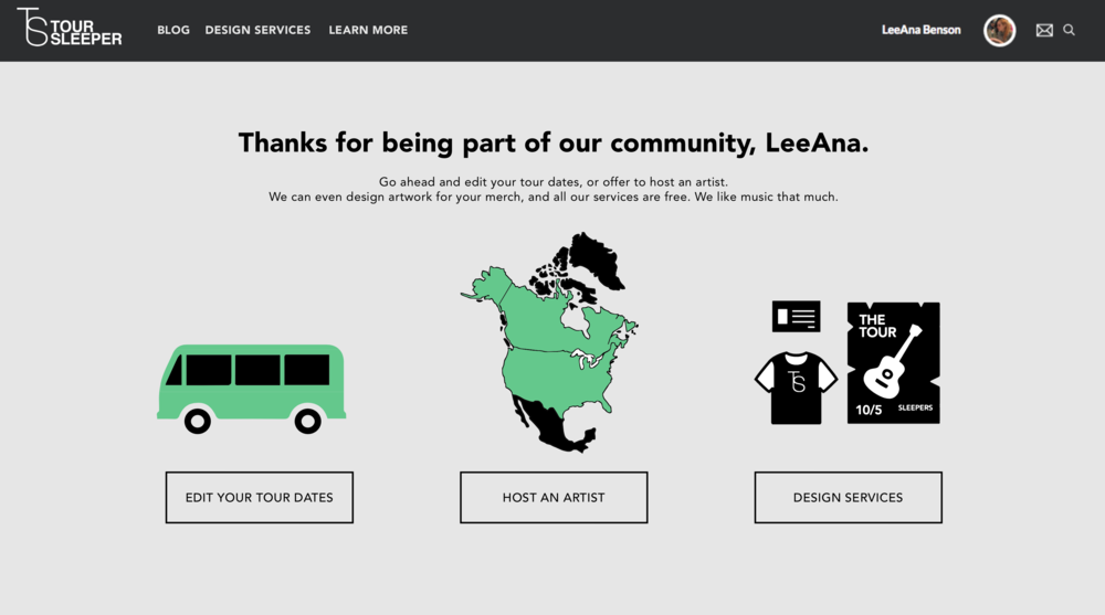 Art Direction Logo Design Branding UX Web Design  Working directly with a programmer  Toursleeper