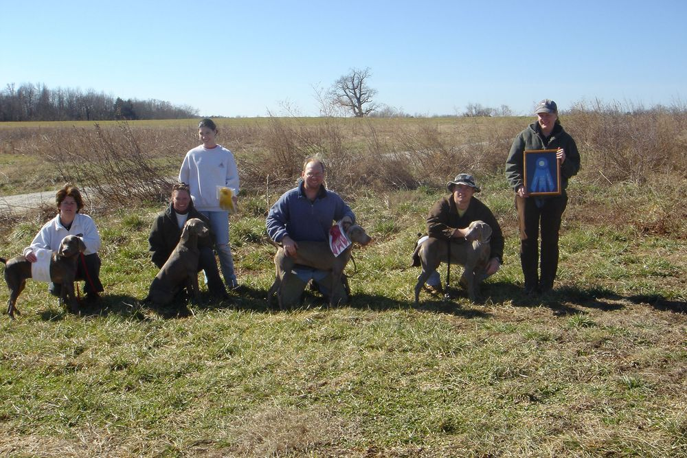 Tru's 1st Field trial and she took 1st place in both Puppy and Derby states!