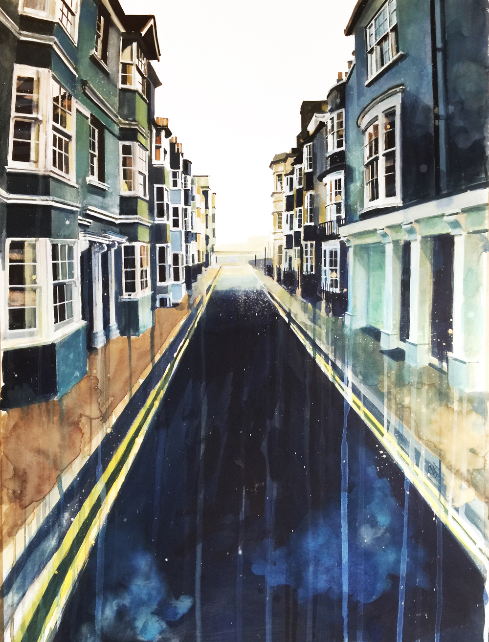 Charles Street, Brighton II (watercolour and inks on paper) SOLD
