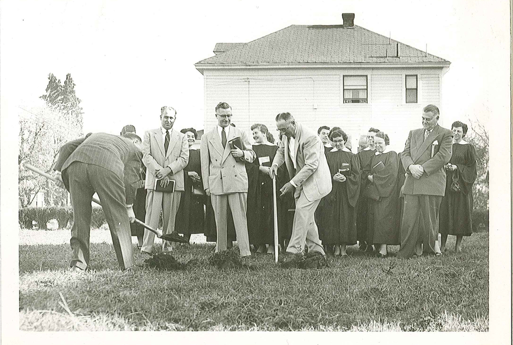 ground breaking, 1954