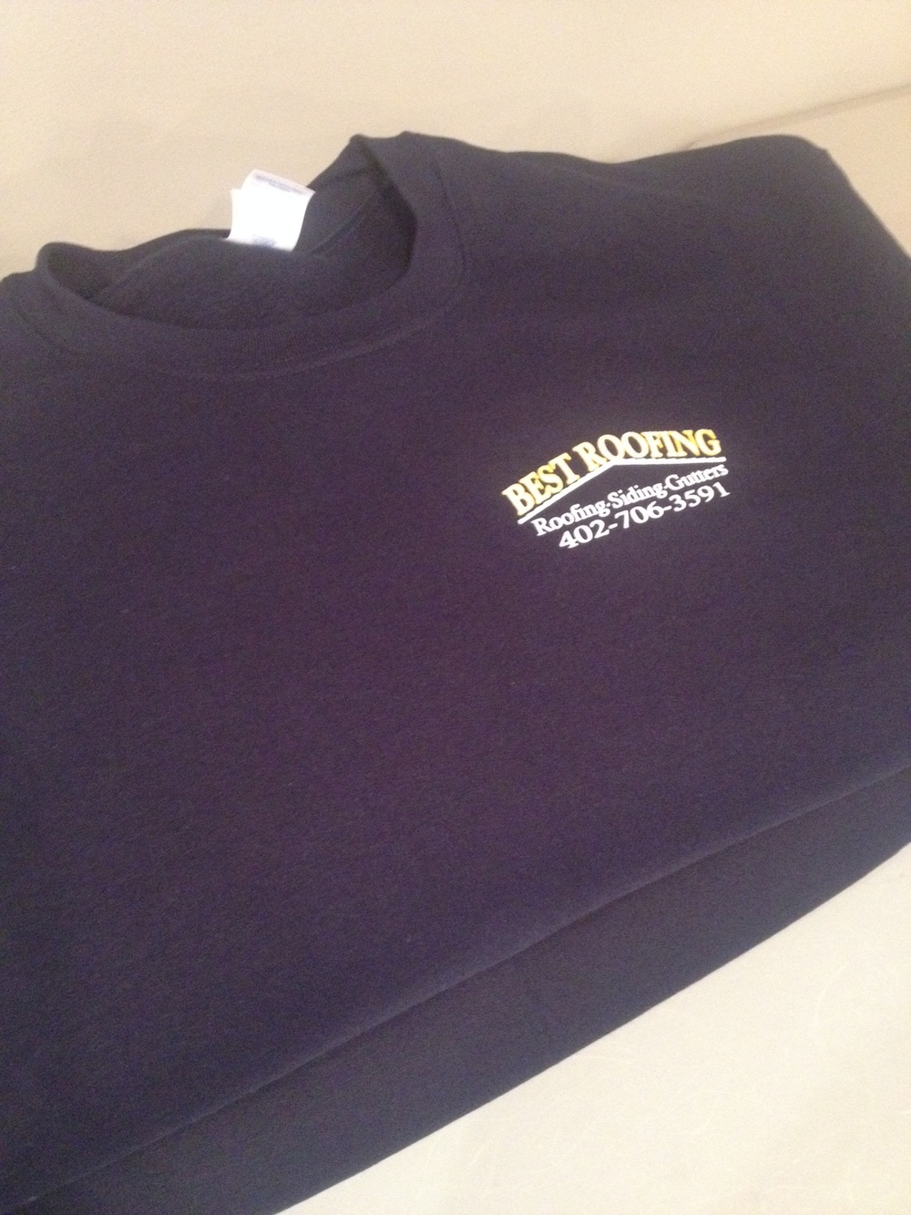 Crewneck sweatshirts for Best Roofing