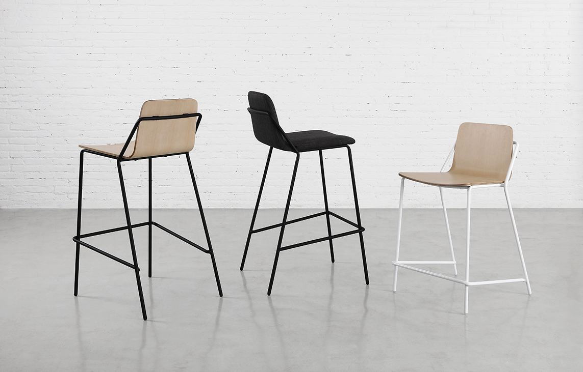 sling stool. sling barstools — mad furniture design