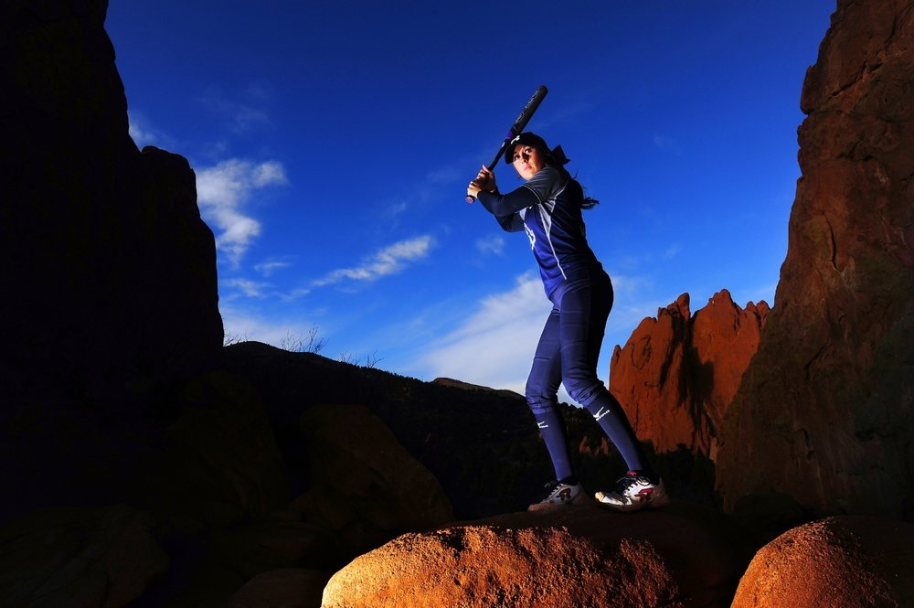 Megan Horn of Air Academy poses for a portrait at Garden of the Gods in Colorado Springs, Colo., on Thursday, Dec. 10, 2015. Horn is the Gazette Peak Performer of the Year for softball.