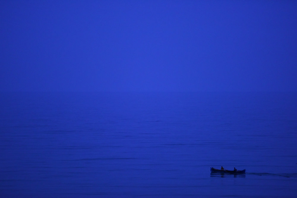 Romanian fishermen take to the Black Sea before dawn in order to catch fish for the nearby markets in Vama Veche, Romania on   July 30, 2016.