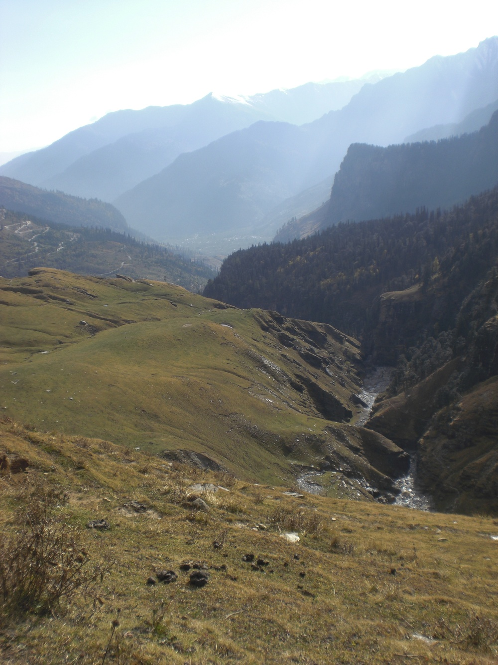 Valley-in-valley structure in the high Himalaya