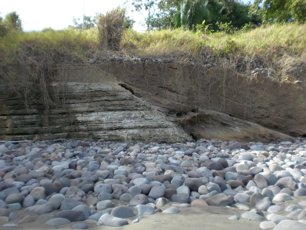 Paleo-channel deposits in western Panama