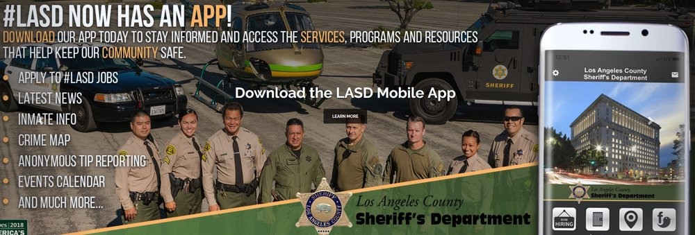Los Angeles Sheriff's Department provides applicants' with a  downloadable mobile app  to join their dept as well as to keep the community informed.