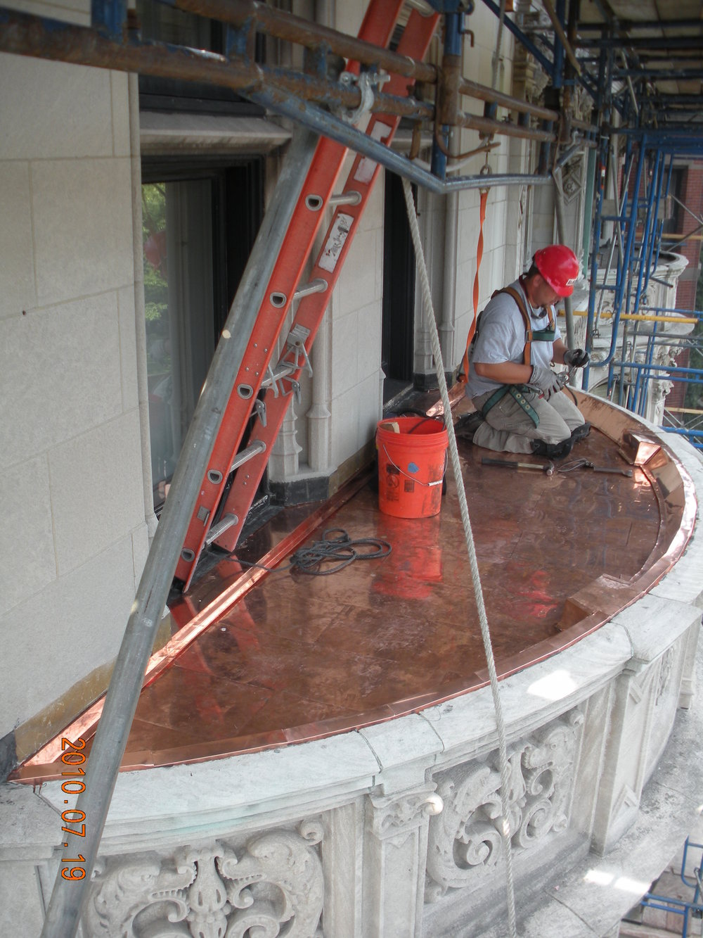 Burrage House Copper Sheetmetal Installation