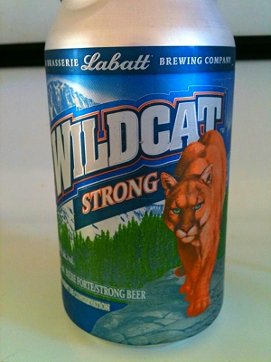 This isn't the actual beer we're paying him in but in order to keep his identity a secret we will say we are paying him in Wildcat.  Rawr.