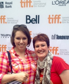 Heather (left) and her friend Jenni, walking the TIFF red carpet.  How cool is that?!
